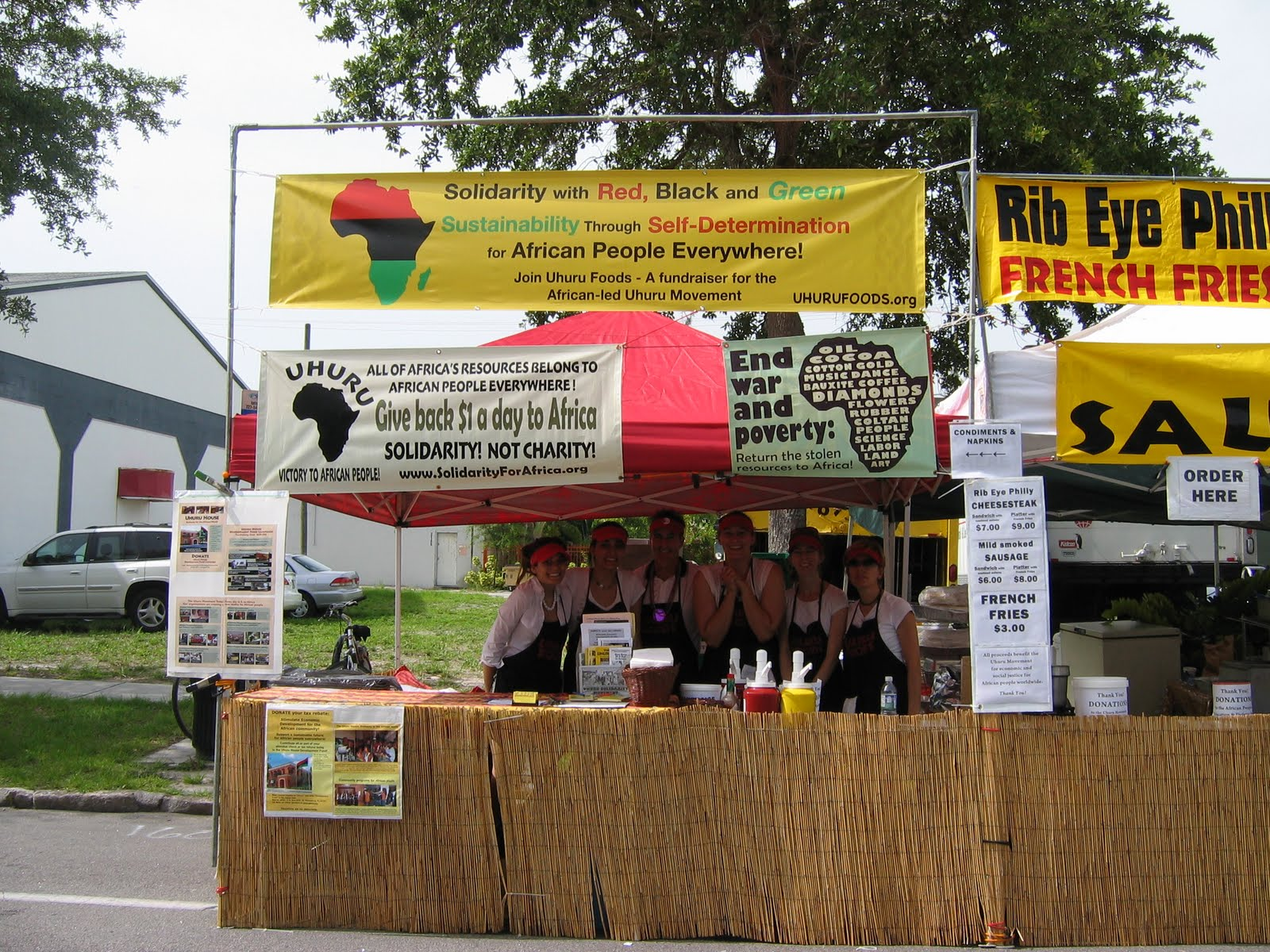 Urgently needed volunteers for food booth at circus mcgurkis uhuru solidarity movement - Food booth ideas ...
