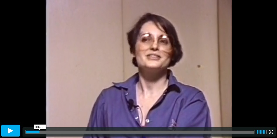 Click image to watch video of Marilyn Buck speaking from prison in 1989.
