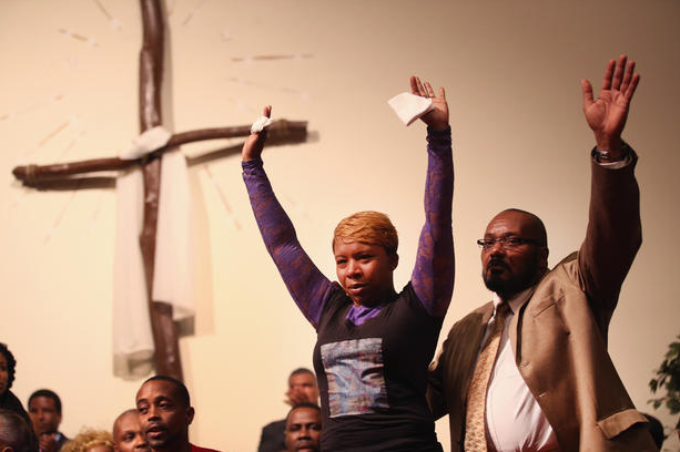 The parents of Michael Brown