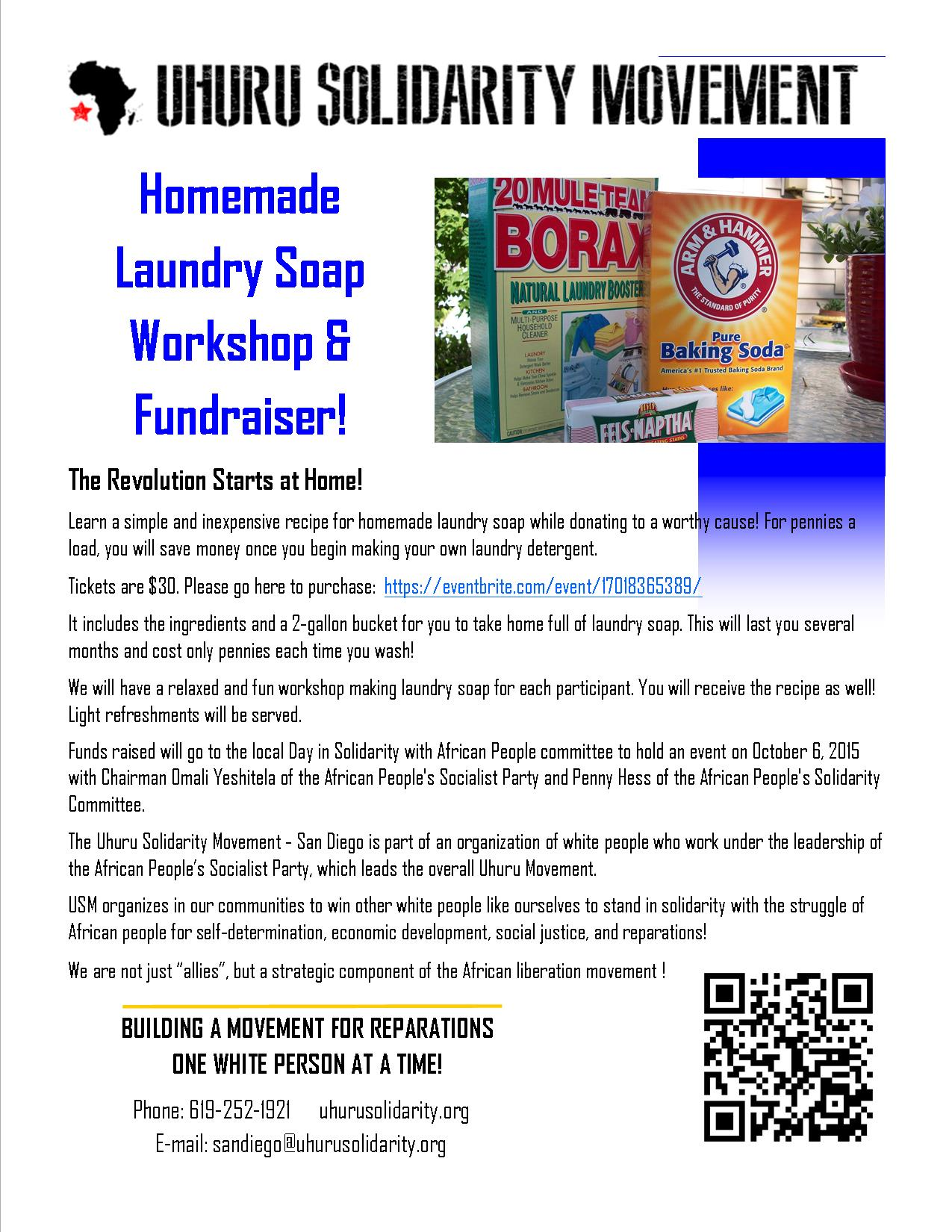 Revolution And Laundry Homemade Laundry Soap Workshop And