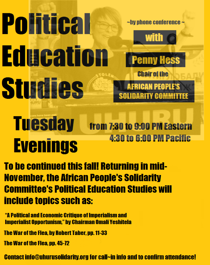 New Political Education Study Flyer
